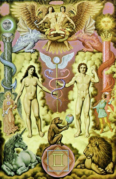 The Lovers from Aleister Crowley's Thoth Tarot